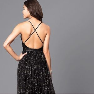 Luxxel Dresses - Black/gold maxi